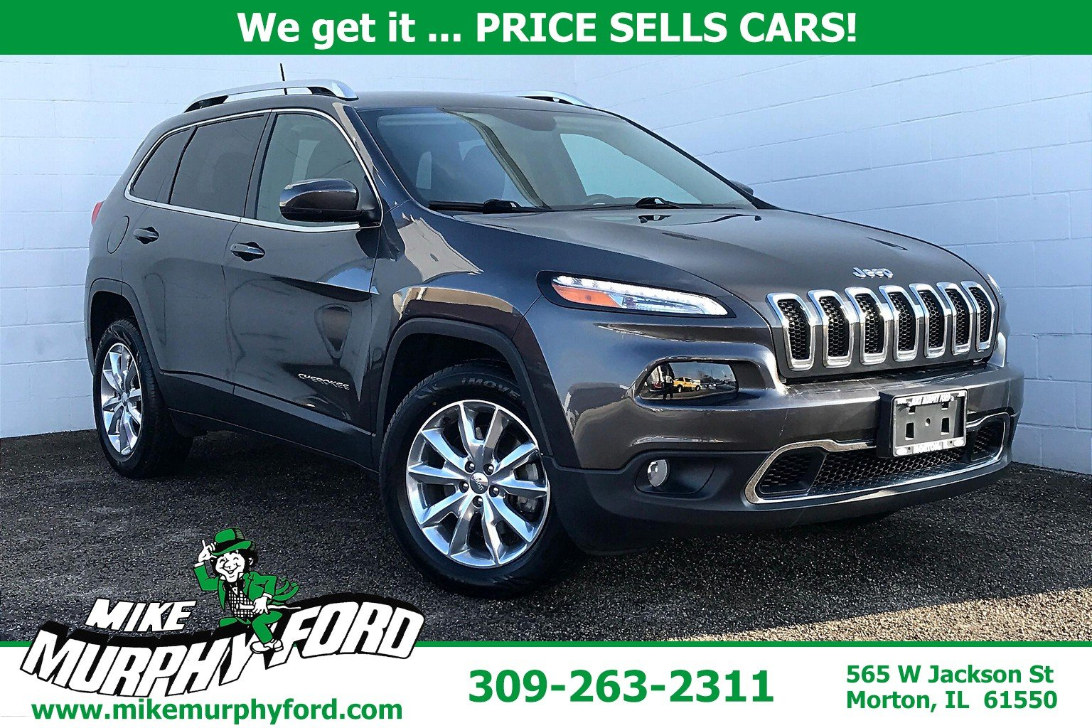 Pre-Owned 2017 Jeep Cherokee 4WDLimited